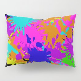 Splatoon Ink Fight Pattern Pillow Sham