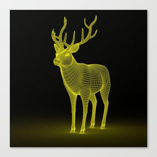 numeric deer 4 Canvas Print