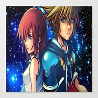 kingdom hearts Canvas Prints featuring KINGDOM OF HEARTS by Cat Milchard