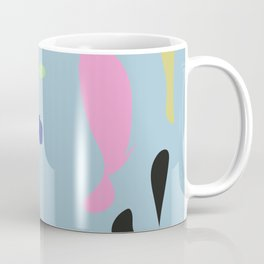Summery Abstract One #summer #pink #blue #shapes #graphicdesign #summergift #giftideas #society6 Coffee Mug