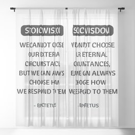 Stoic Philosophy Quotes - We cannot choose our external circumstances -Epictetus Sheer Curtain