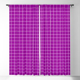 Magenta and White Grid - more colors Blackout Curtain