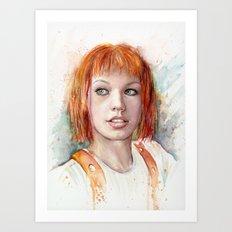 Leeloo Portrait Fifth Element Art Art Print