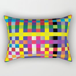 colorful pixels Rectangular Pillow