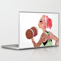 workout Laptop & iPad Skins featuring Workout Girl by TCFischer