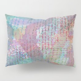 Words and Water Paint 2 Pillow Sham