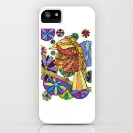 Golden Bird Edna in Flowers iPhone Case