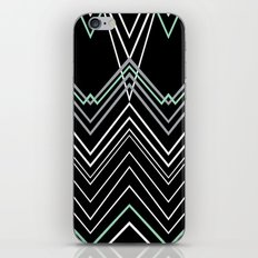 Mint Chevy on Black iPhone & iPod Skin