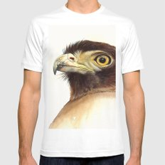 eagle White Mens Fitted Tee MEDIUM