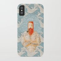 bear iPhone & iPod Cases featuring Sailor by Seaside Spirit