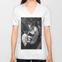 baby elephant V-neck T-shirts featuring Baby Elephant by Rama Patankar