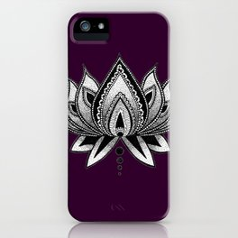 LOTUS FLOWER PURPLE iPhone Case