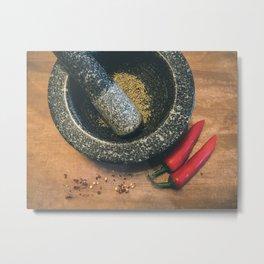 Mortar and Pestle. Metal Print