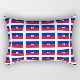 Flag of Haiti-haitan,haitien,port aux princes,cap haitien,carrefour,antilles. Rectangular Pillow