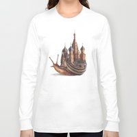 fantasy Long Sleeve T-shirts featuring The Snail's Daydream by Eric Fan