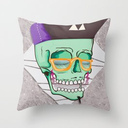 Hell Yeah Skull 3 Throw Pillow