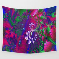 nerd Wall Tapestries featuring Nerd Berries Psychedelic Fractal by BohemianBound