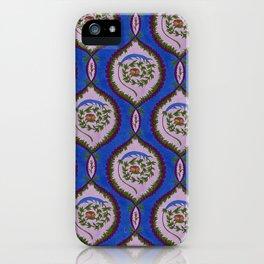 Classic Rose Pattern - intense blue iPhone Case