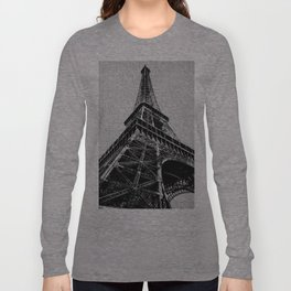 The Eiffel Tower, Paris BW Long Sleeve T-shirt