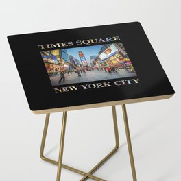 Times Square Sparkle (with type on black) Side Table