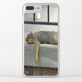 Squirl on a Hot Summers Day. Clear iPhone Case