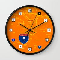 portland Wall Clocks featuring portland by Larsson Stevensem