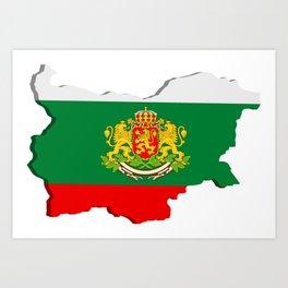 Bulgarian map Art Print