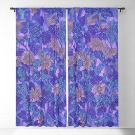 Mallow Bloom (Twilight Version), Summer Flowers Wildflowers Blackout Curtain