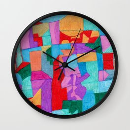 A City in the Clouds Wall Clock