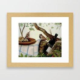 Bodegón jerezano Framed Art Print