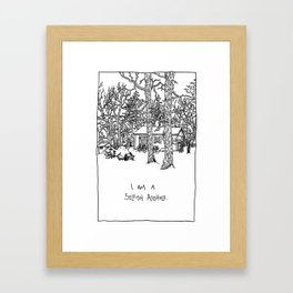I Am A Selfish Asshole Framed Art Print