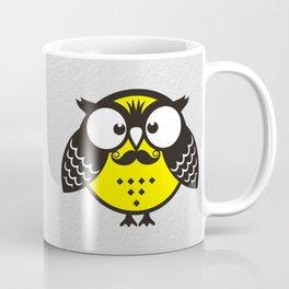 Owl with mustache Coffee Mug