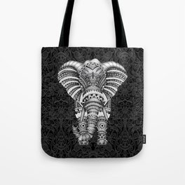 elephant with aztec pattern Tote Bag
