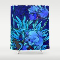 iris Shower Curtains featuring Iris by lillianhibiscus