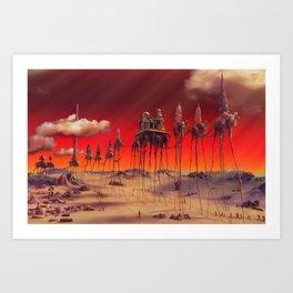-Caravan Dali- RED Art Print