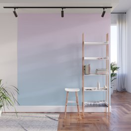 Pastel Ombre Millennial Pink Blue Gradient Pattern Wall Mural