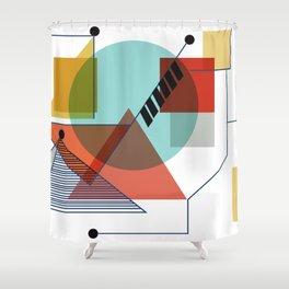 Bauhaus Kandinsky Modern Art Shower Curtain
