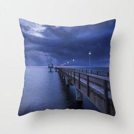 Sea Bridge Throw Pillow