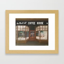 THE BLACK LAB COFFEE HOUSE Framed Art Print