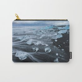 Jokulsarlon Beach - Iceland Print (RR255) Carry-All Pouch