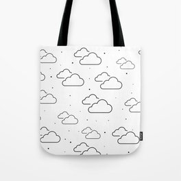 Head in the Clouds Throw Pillow Tote Bag