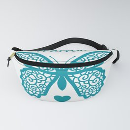 Scleroderma Warrior Survivor Lace Butterfly Fanny Pack