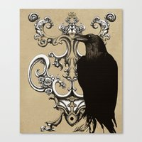 raven Canvas Prints featuring Raven by Кaterina Кalinich