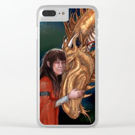 Golden Dragon Clear iPhone Case