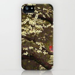 The Dogwoods and the Cardinal iPhone Case