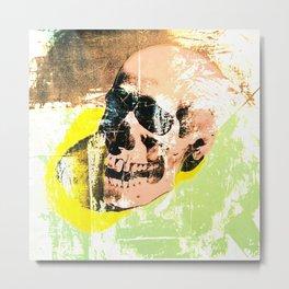 POP SKULL Metal Print