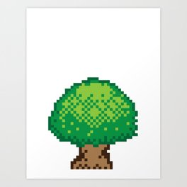 The Pixel Tree Art Print