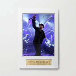 Justin Tim-berlake American pop  R & B singer-songwriter and actor Metal Print