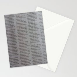 Newpaper Stationery Cards