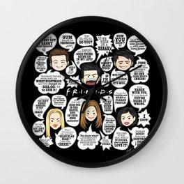 FRIENDS TV Lines Wall Clock